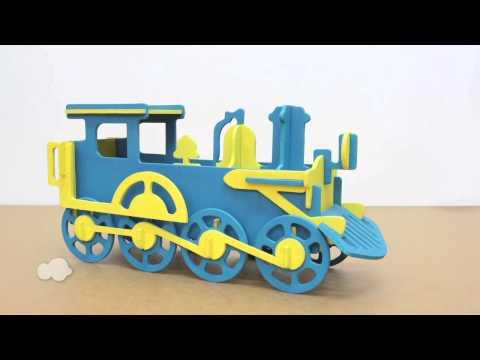 Wooden Train Money Bank Model Kit