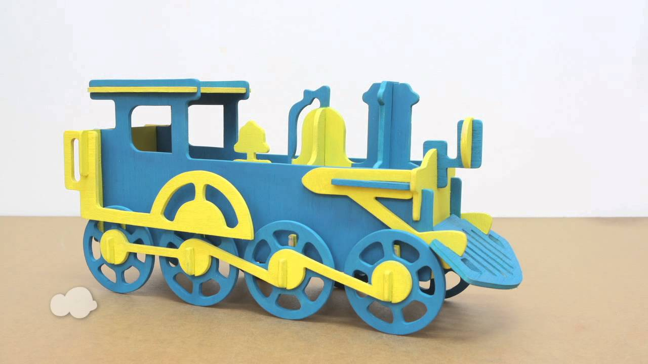 Wooden Train Model Kits Wooden Thing
