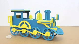 Wooden Train Money Bank Model Kit