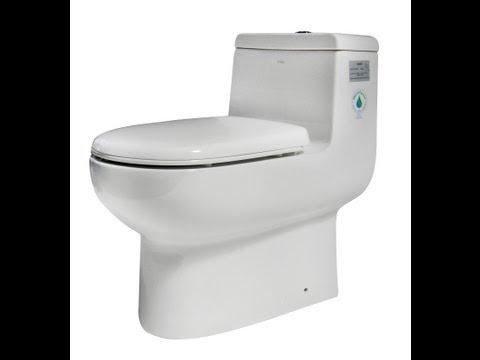 Dual Flush Toilet - One Piece White Bowl - EAGO TB351