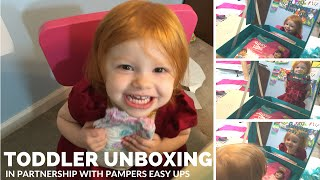 Toddler Unboxing Easy Ups