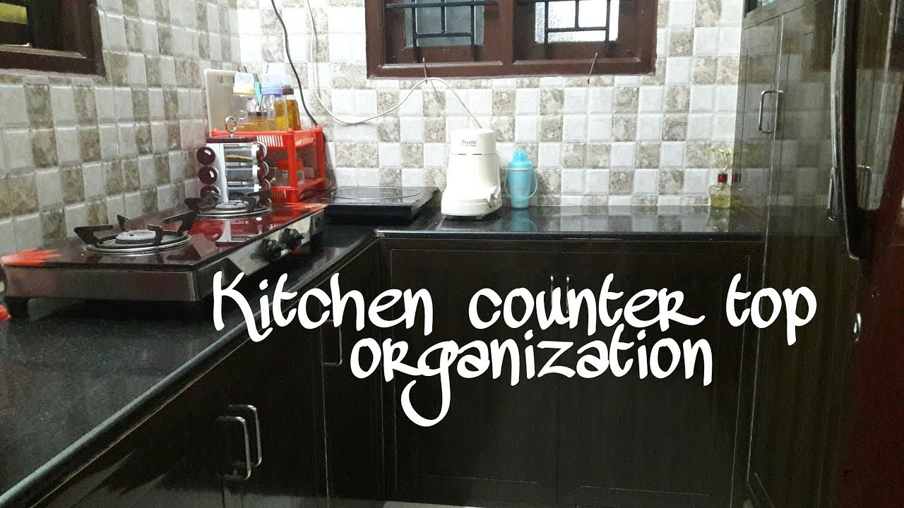 Small Indian Kitchen Counter Top Organization Kitchen Organization