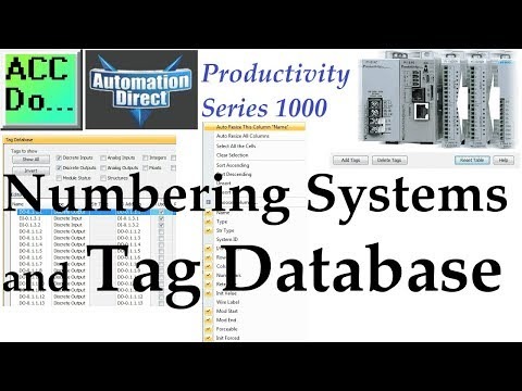 Productivity 1000 Series PLC Numbering Systems and Tag Database