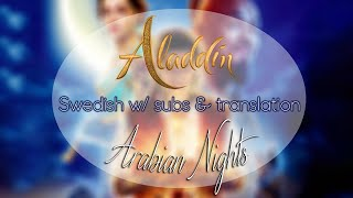 Cover images Aladdin 2019 - Arabian Nights「Swedish w/ subtitles & translation」