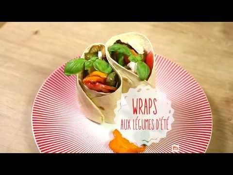 Wrap aux légumes d'été