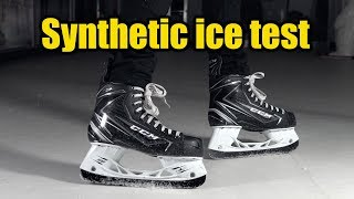 Synthetic Ice Test !! Possibly the best hockey tiles.