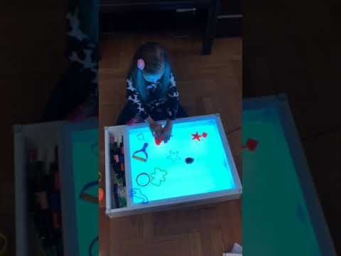 Art Light Activity Table / Box 5-in-1. Art And Play. Create your own play.