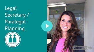 Legal Secretary / Paralegal - Planning