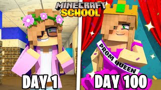 I Survived 100 DAYS in MINECRAFT SCHOOL... Here's What Happened