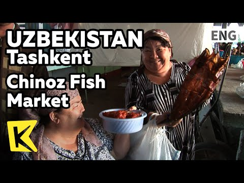 【K】Uzbekistan Travel-Tashkent[우즈베키스탄 여행-타슈켄트]치노스 새벽 수산시장/Chinoz Fish Market/Dried goods/Stockfish