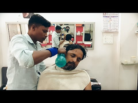 Ear Cleaning Head Massage and Neck Cracking with Mustard oil by Vikram   Indian Massage