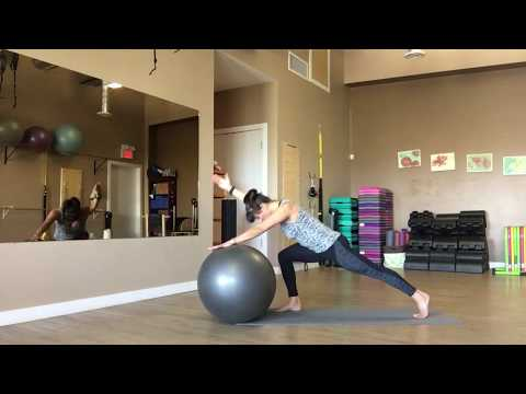 Stability Ball Mat Pilates with trainer Fiona Hermanutz