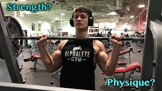 What I focus on while training | Training at Golds Gym