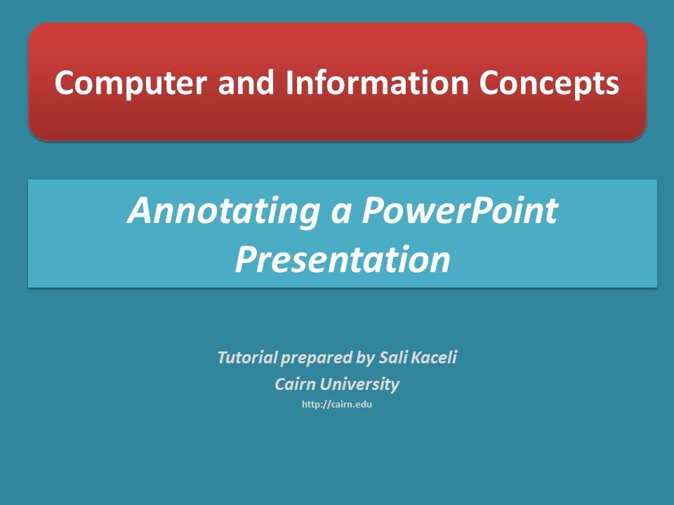 Presenting And Annotating A Powerpoint Presentation Powerpoint