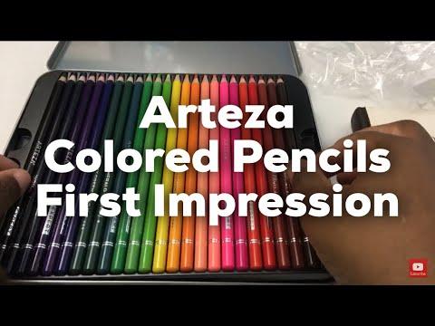 Arteza haul unboxing and first impressions, Arteza Professional Colored Pencils