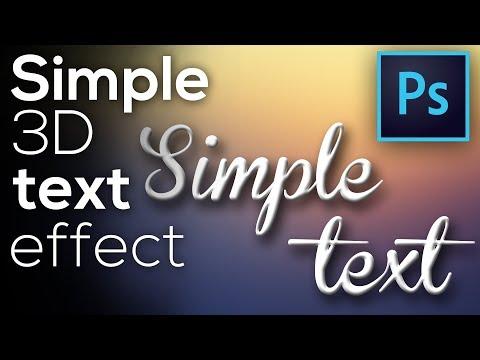Simple 3D Text   Photoshop Tutorial [Basic] thumbnail