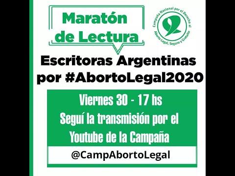 Maratón de lectura por #AbortoLegal2020