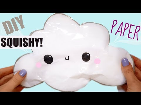 DIY PAPER CLOUD SQUISHY | how to make a squishy without foam #11