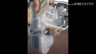 Retirando caixa de ferramentas da moto (deu certo?)