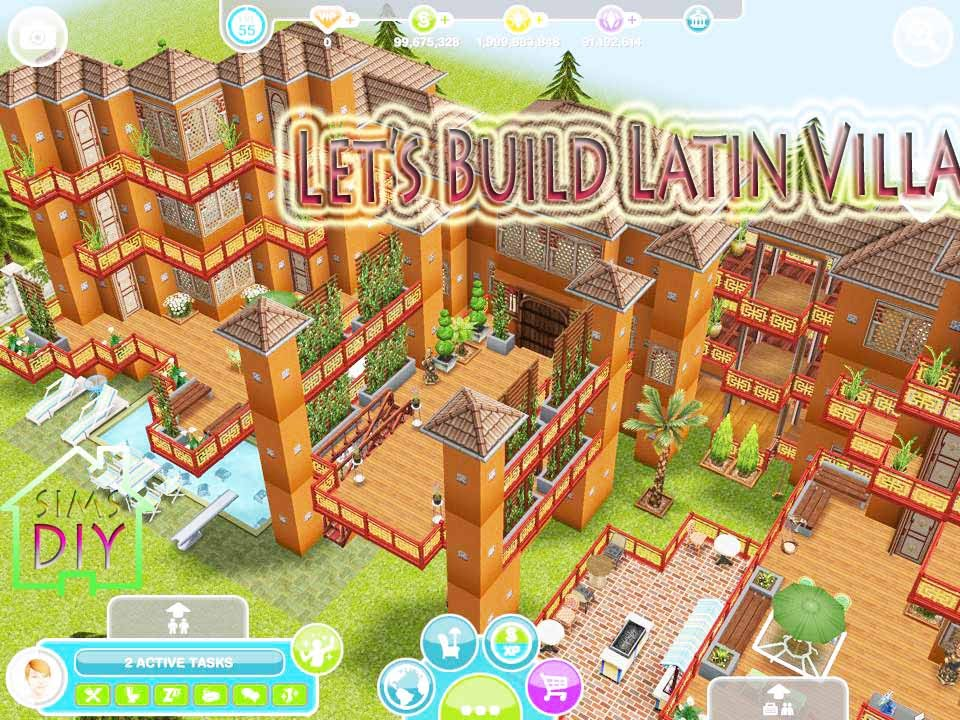 Sims Freeplay Let 39 S Build Latin Villa Floor Plan