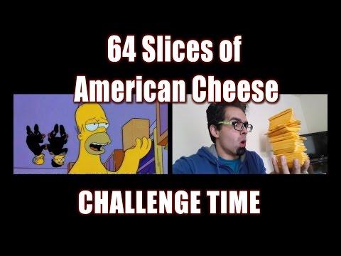 64 Slices Of American Cheese Challenge *Simpsons Parody* | FreakEating Vs World 119