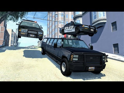 Crazy Police Chases #50 - BeamNG Drive Crashes