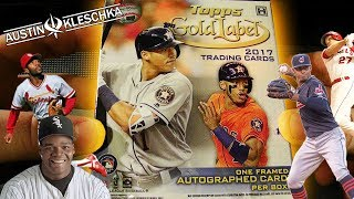 ALMOST LOST MY MIND OPENING 2017 TOPPS GOLD LABEL! | Kleschka Pack Openings #2