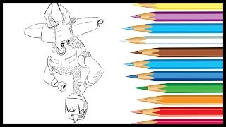 HOW TO DRAW TAPU BULU FROM POKEMON SUN AND MOON