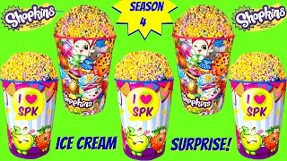 SHOPKINS SEASON 4 Ice Cream Surprise Cups
