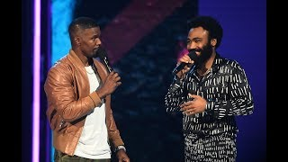 Jamie Foxx Brings Donald Glover On BET Aw ards Stage For Impromptu 'This Is America'