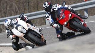 Test-Teaser: Ducati 1199 Panigale S gegen KTM RC8 R