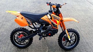 50cc PocketBike Dirt Bike - Review!! Coyote 49cc