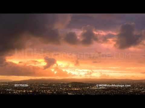 Time-lapse of sunset over the suburb of Mount Eden, Auckland, New Zealand