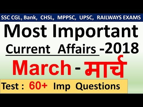 Current affairs : March 2018 | Important current affairs 201