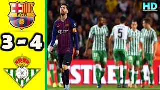 BARCELONA 3-4 REAL BETIS | All Goals & Highlights La Liga 11 November 2018