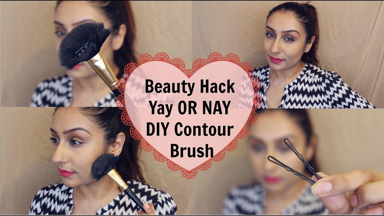 Beauty hack diy contour makeup brush makeup with raji youtube solutioingenieria Images