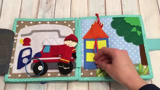 Quite book for boy, Busy book, Education book, Fabric book, Activity Book, Travel Toy