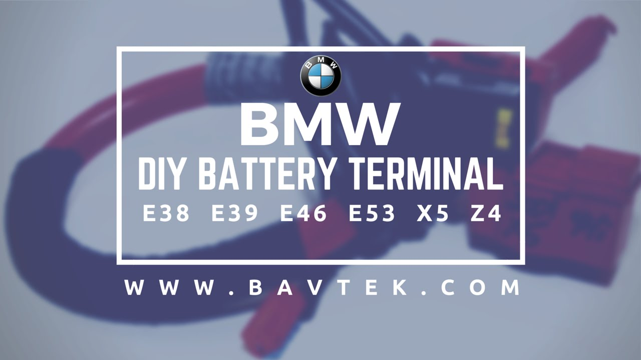 BMW E46 E39 E38 E53 X5 Z4 Battery Terminal Video - YouTube