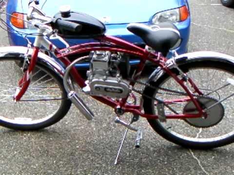 49cc 4 Stroke Motorized Bike With Boomer Exhaust Youtube