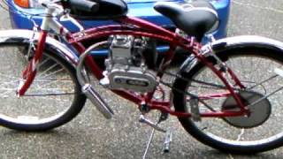49cc 4 stroke motorized bike with boomer exhaust
