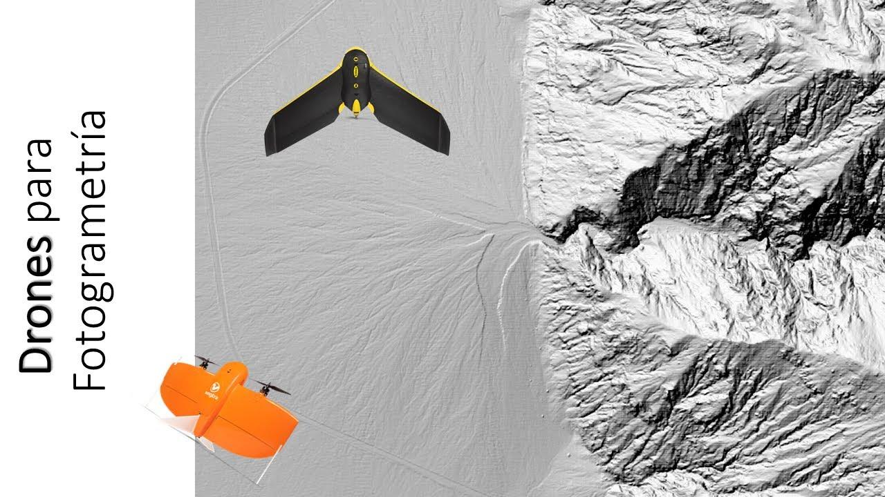 Drones para Fotogrametría : Ebee, Mavic Pro 2, Phantom RTK, Wingtra, Matrice, etc.