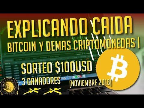 Explicando Caida Bitcoin Y Demas Criptomonedas | Sorteo $100USD 3 Ganadores [Noviembre 2018]