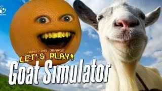 Annoying Orange Let's Play Goat Simulator #1