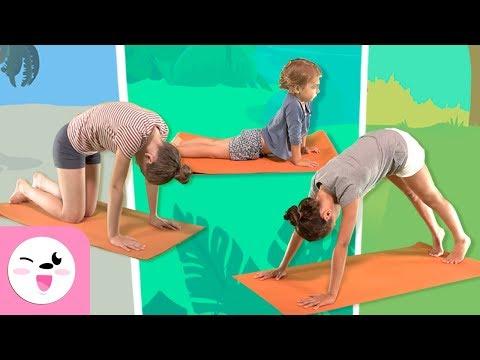 Yoga For Kids -  Yoga Animal Poses - Yoga Practice Tutorial - Yoga Class For Children