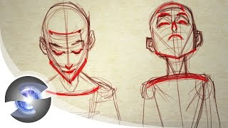 How to Draw a Head Looking Up and Down