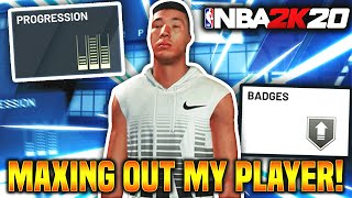 MAXING OUT MY PLAYER'S STATS! OUR FIRST GAME! NBA 2K20 Ep.6