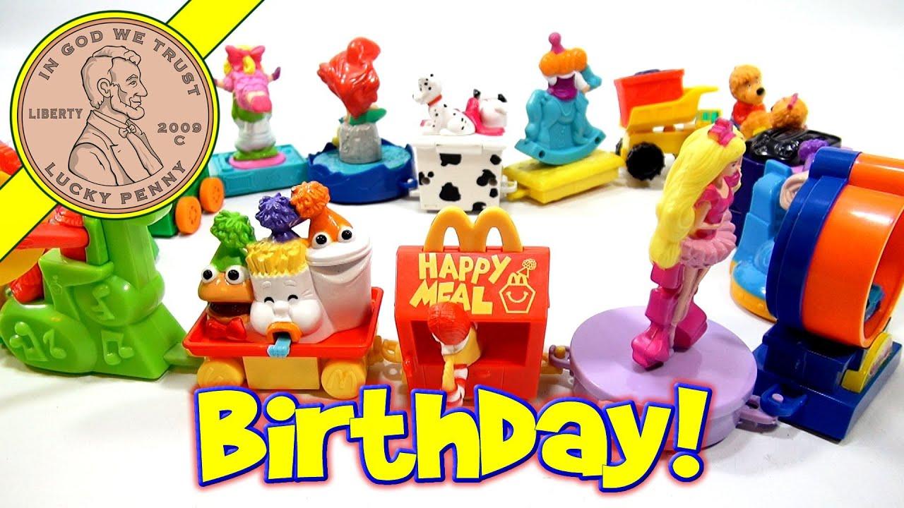 Happy Birthday 1994 Set McDonald s Retro Happy Meal Toy Series