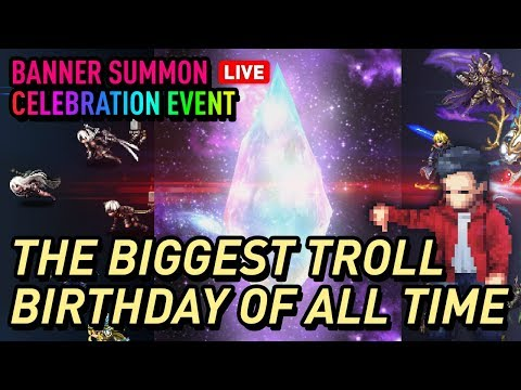 [FFBE JP] JaganX Birthday Celebration Banner Pulls - You won't believe this