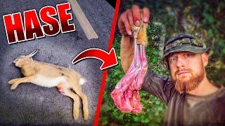 Überfahrenen Hasen essen - Survival Training | Fritz Meinecke