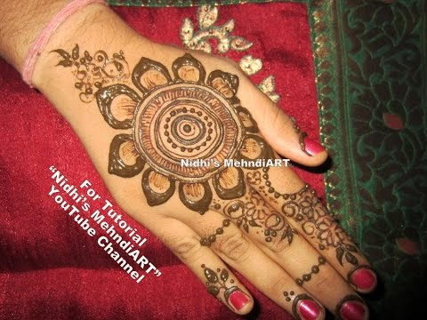 Henna Mehndi S : Floral henna mehndi designs for hands easy simple